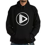 Play Button Hoodie (dark)