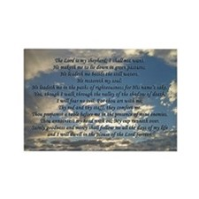 Beautiful Psalm 23 Rectangle Magnet