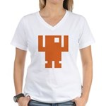 Pixel Dancer Women's V-Neck T-Shirt