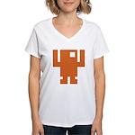 Pixel Dancer Women's V-Neck T-Shirt