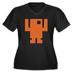 Pixel Dancer Women's Plus Size V-Neck Dark T-Shirt