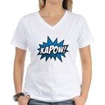 KAPOW! Women's V-Neck T-Shirt
