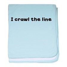 I CRAWL THE LINE baby blanket