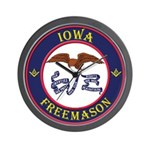 Iowa Masons Wall Clock