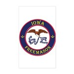 Iowa Masons Sticker (Rectangle)