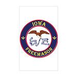 Iowa Masons Sticker (Rectangle)