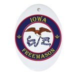 Iowa Masons Ornament (Oval)