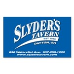 Slyder's Tavern Sticker (Rectangle 50 pk)