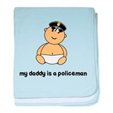 MY DADDY IS A POLICEMAN baby blanket