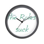 The Rules Suck Wall Clock
