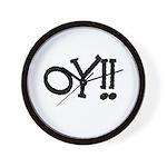 OY!! Wall Clock