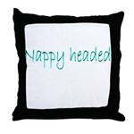 Nappy Headed Throw Pillow