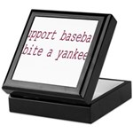 Support Baseball Bite A Yanke Keepsake Box