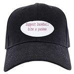 Support Baseball Bite A Yanke Black Cap