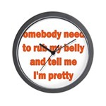 Somebody Needs To Rub My Bell Wall Clock
