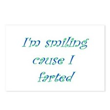 I'm Smiling Cause I Farted Postcards (Package of 8