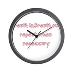 Breath In Breath Out.... Wall Clock