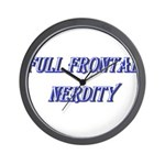 Full Frontal Nerdity Wall Clock