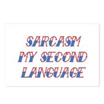 Sarcasm My Second Language Postcards (Package of 8