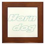 Horn Dog Framed Tile