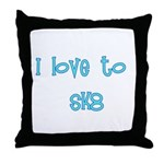 I Love To Sk8 Throw Pillow
