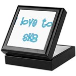 I Love To Sk8 Keepsake Box