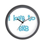 I Love To Sk8 Wall Clock