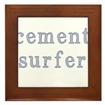 Cement Surfer Framed Tile