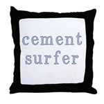 Cement Surfer Throw Pillow