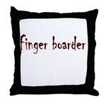 Finger Boader Throw Pillow