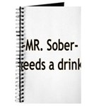 Mr. Sober Needs A Beer Journal