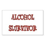 Alcohol Survivor Sticker (Rectangle 50 pk)