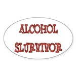 Alcohol Survivor Sticker (Oval 10 pk)