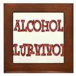 Alcohol Survivor Framed Tile