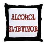 Alcohol Survivor Throw Pillow