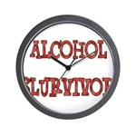 Alcohol Survivor Wall Clock