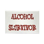 Alcohol Survivor Rectangle Magnet