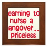 Learning To Nurse A Hangover. Framed Tile