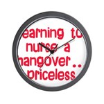 Learning To Nurse A Hangover. Wall Clock