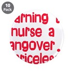 "Learning To Nurse A Hangover. 3.5"" Button (10"