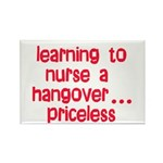 Learning To Nurse A Hangover. Rectangle Magnet