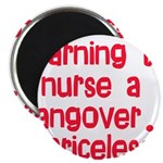 "Learning To Nurse A Hangover. 2.25"" Magnet (1"