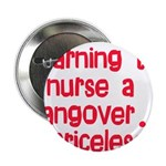 "Learning To Nurse A Hangover. 2.25"" Button (1"
