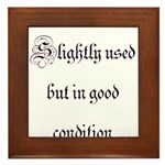 Slightly Used But In Good Con Framed Tile