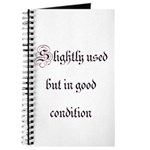 Slightly Used But In Good Con Journal