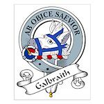 Galbraith Clan Badge Small Poster