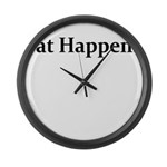 FAT HAPPENS Large Wall Clock