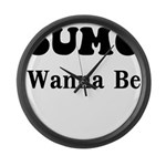 SUMO WANNA BE Large Wall Clock