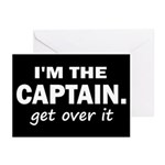 I'M THE CAPTAIN. GET OVER IT Greeting Cards (Pk of