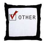 CHECK OTHER Throw Pillow